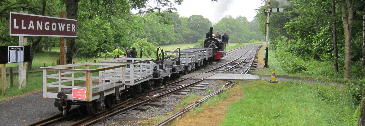 Waggons at Llangower