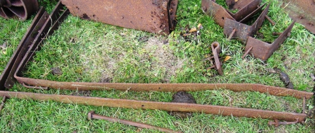 The recovered components of Long waggon No2 (1)